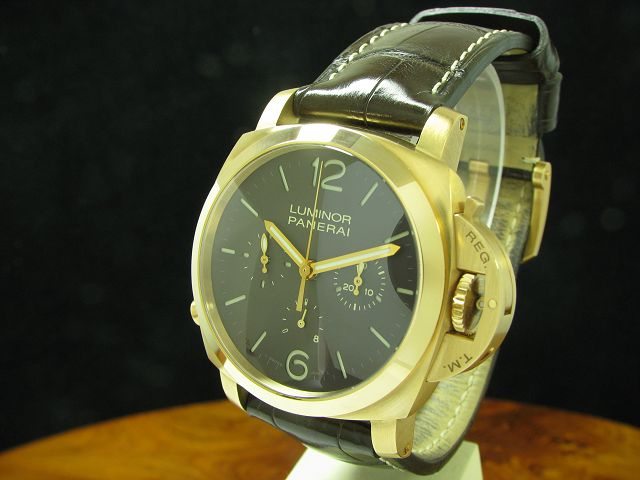 Panerai Luminor 1950 Chrono Monopulsante 8 Days 18kt 750 Gold Handaufzug Herrenuhr / Ref PAM00344