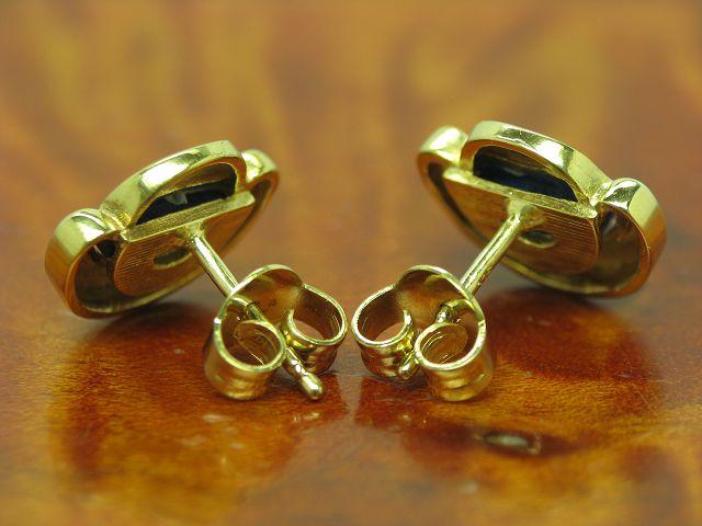 9kt 375 gelb gold ohrstecker mit diamant lapislazuli besatz ohrringe 2 5g ebay. Black Bedroom Furniture Sets. Home Design Ideas