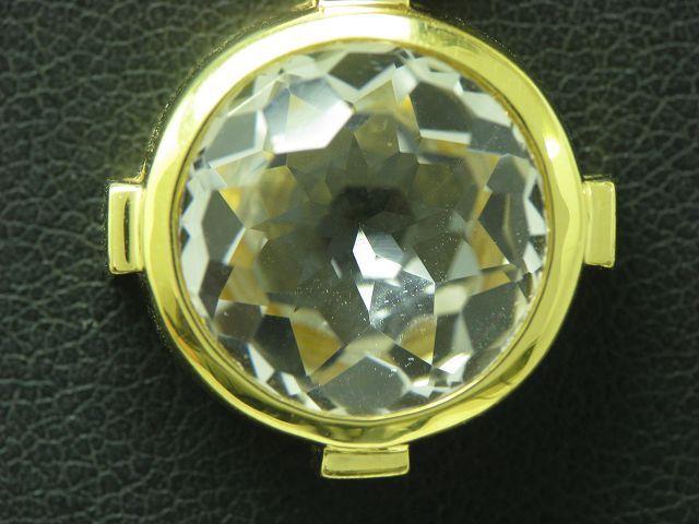 18kt 750 gelbgold halskette jette joop anh nger mit 8 50ct bergkristall besatz ebay. Black Bedroom Furniture Sets. Home Design Ideas